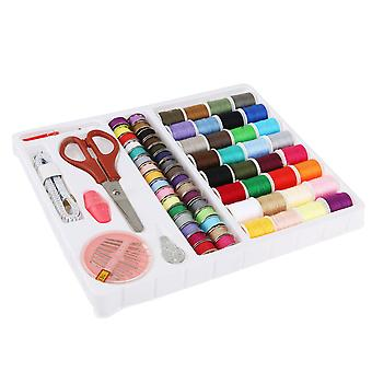 100-in-1 Essential Sewing Tools Kit Needlework Box Set For Domestic Sewing Machine (random Color)
