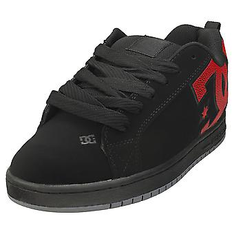 DC Shoes Court Graffik Mens Skate Trainers in Black Red