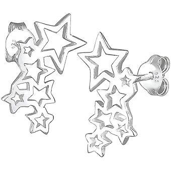 Wokex Ohrringe Wokex Damen Ohrringe Sterne Astro Trend Cut Out Filigran in 925 Sterling Silber