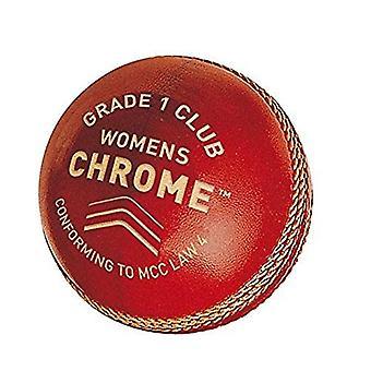 Gunn & Moore GM Cricket Chrome Grade 1 Club Ball Engelsk Skinn - Kvinner