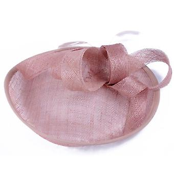 Linen Feather Mesh Wedding Hairband Lady Party Hat Bow Headdress