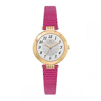 CLYDA MONTRES Women's Watch - CLA0755PAAC - Pink Leather