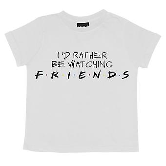 Friends Girls Rather Be Watching Cropped T-Shirt