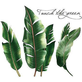 3d Tropical Leaves Wall Sticker Home Decal (size:88cm X 78cm)