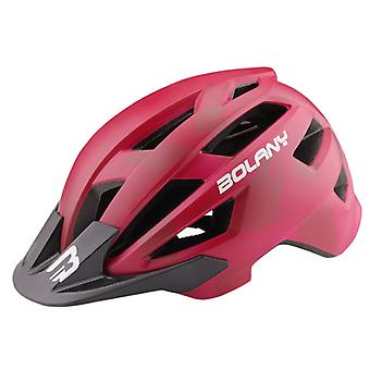 Lightweight Road Mountain Bike Cycling Helmet,outdoor riding Safety Helmet,red