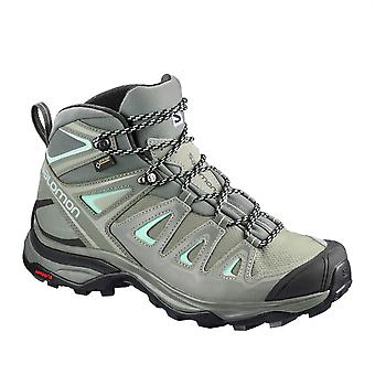 Salomon Womens X UMid GTX W Walking Boots Shoes Lace Up Solid Sole
