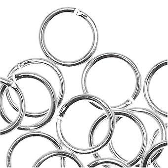 Anelli da salto aperti placcati in argento 6 mm calibro 20 (50)