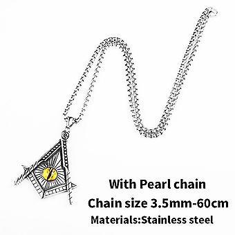 Желтоглазое масонское ожерелье из нержавеющей стали