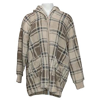 Koolaburra par UGG Women's Sweater Reg Cozy Shaggy Cardigan Brown A386142