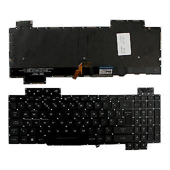 Asus GL703GE-EE074T Taustavalaistu musta Windows 8 UK Layout Korvaava kannettavan tietokoneen näppäimistö