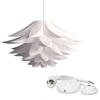 Chandelier - Lotus Design Lamp - Shade To Be Mounted - Iq Ceiling Light - Set With Cable Ceiling Mount