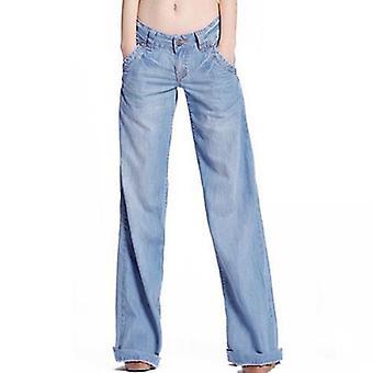 Fashion Slim Temperament Casual Vintage bredbenede jeans