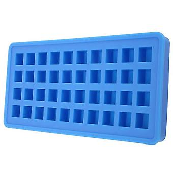 Ice Cubes Maker Ice Cubes Mold Reusable Ice Mold Ice Trays(24*12*2cm,Blue)