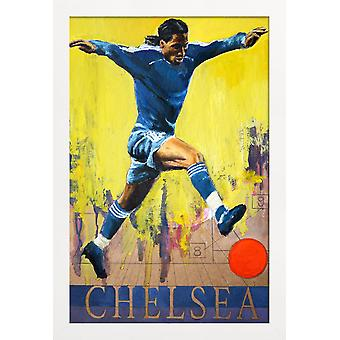 JUNIQE Print - One Love - Chelsea - Football Poster in Blue & Yellow