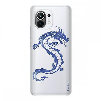 Shell para Xiaomi Mi 11 Silicone Macio 1 Mm, Dragão Azul