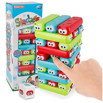 Wooden stacking toys board games building blocks for kids - 30 pieces az8485