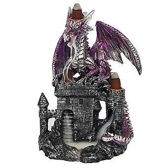 Violetti lohikäärme linnan takaisinvirtauspolttimella