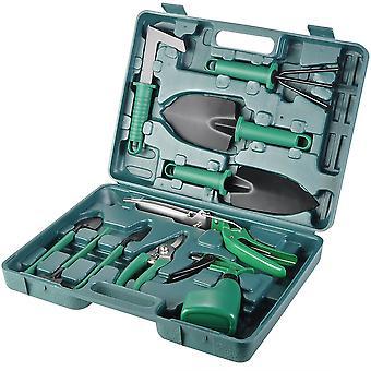 10 Pieces Garden Hand Tool With Pruner Shovel Trowel Rake Grass Shear Spray Bottle