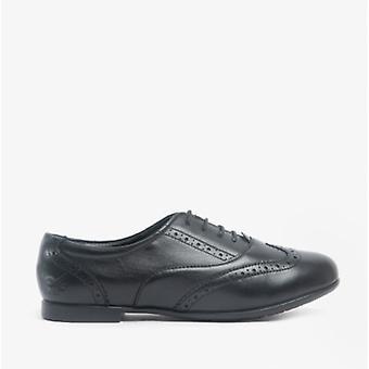 Start-Rite Matilda Girls Leather Brogue School Shoes Black