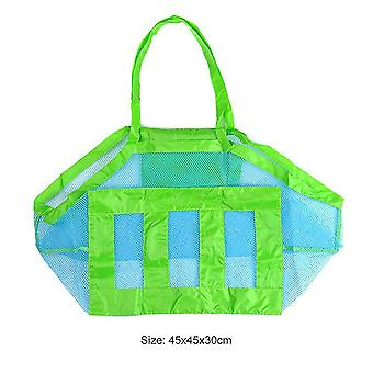Portable Mesh Bag Kids Beach Toys Clothes Towel Package Big String Bag Shell Sand Digging Tool Kit
