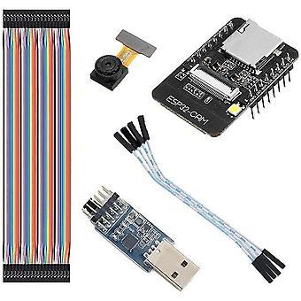 Esp32-cam wifi + bluetooth module camera module development board esp32 camera ov2640 seriale ftdi ft232rl jumper wire