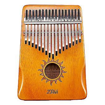 21 Tasten Kalimba Daumen Klavier Musikinstrument Geschenk für Kinder Orange