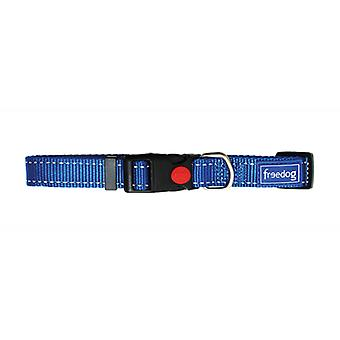Freedog Nylon Reflect Collar Blue (Dogs , Collars, Leads and Harnesses , Collars)