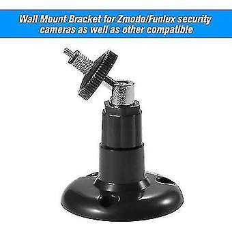 1 confezione tavolo da parete regolabile tavolo da parete staffa di sicurezza per fotocamera Zmodo / Funlux, nero