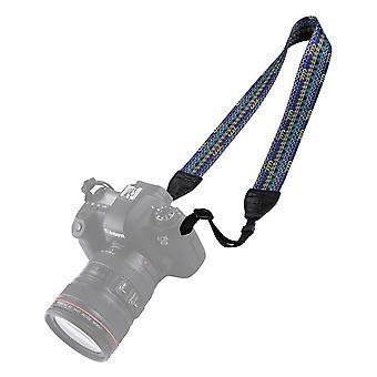 3 יח' רטרו בסגנון אתני מצלמה רצועת צוואר כתף מרובת צבעים סדרה PU עור וינטג מתכוונן