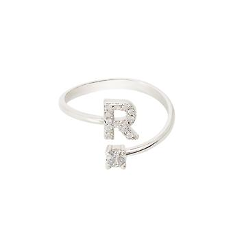 Initial Ring Silber R