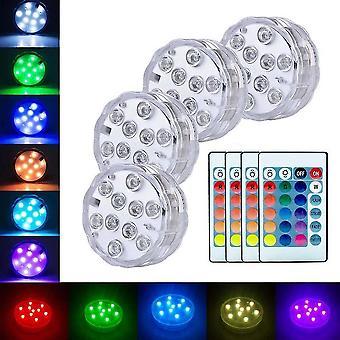 Dekor Lampe 5050 RGB Tauchlichter Batteriebetriebene Unterwasser Nachtlicht Outdoor Vase Bowl