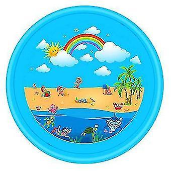 Pvc لعبة رذاذ المياه لوحة والصيف لعب العشب (قوس قزح الأزرق)