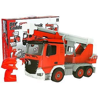 RC Fire Truck DIY gör det själv set 54-stycke - 1:14