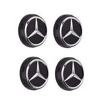 AMG RED  Mercedes Benz Alloy Badges Wheel Centre Caps 75mm Set of 4