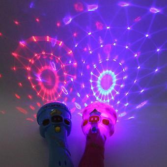 Dětský mikrofon tvar toy starry flashlight blikající hůl