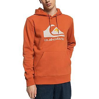 Quiksilver Mens Big Logo Casual Regular Fitting Pullover Hoodie - Cinnamon