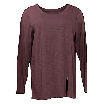 Modern Soul Women's Top Long Sleeve Tee Purple 681481