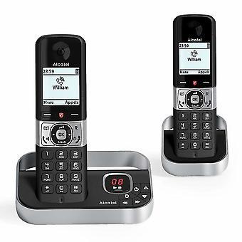 Téléphone sans fil Alcatel F890 VOICE DUO DECT Noir/Argent