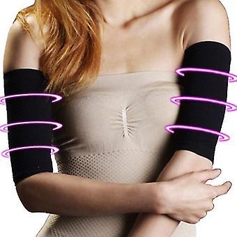Kar sleeve fogyás kalória off slim slimming karformázó masszírozó futókar melegítő (fekete)