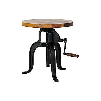 Side table DKD Home Decor Black Wood Metal (45 x 45 x 42 cm)