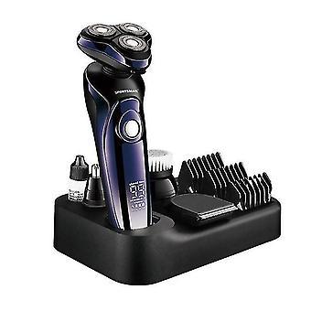 Märkä kuiva 4d sähkö parranajokone miehille parta hiukset trimmeri ladattava ammatillinen hiustenleikkuu nenä