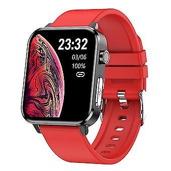 Ecg slimme horloge e86 mannen ip68 waterdichte 1,7inch ondersteuning bloed zuurstof lichaamstemperatuur voor android