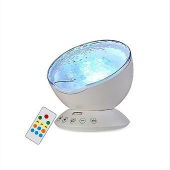 Svetelný projektor LED Ocean Wave so zabudovaným mini reproduktorom