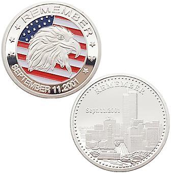ארצות הברית 911 פסל החירות מצופה זהב מדליה מדליית נחושת מדליה מטבע מטבע הנצחה