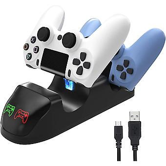 Dual Usb Handle Fast Charging Dock Station Stand Charger For Ps4 / Ps4 Slim / Ps4 Pro Game Controller Joypad Joystick