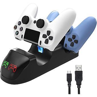Double usb handle chargeur de station d'accueil de charge rapide pour Ps4 / Ps4 Slim / Ps4 Pro Contrôleur de jeu Joypad Joystick