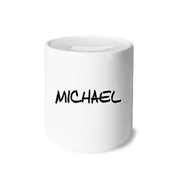 Englischer Name Michael Print Keramik Sparschwein