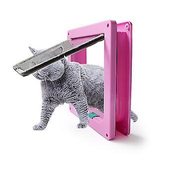 Huisdier kat en hond intelligente controle, eenvoudig te installeren, winddichte ingang (roze S)
