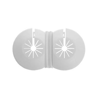 Twin Double Universal 8-22mm White Radiator Plastic Water Pipe Cover Collar Rose