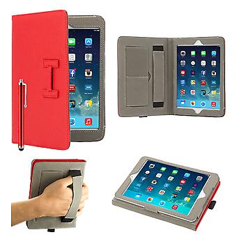 Hermes Clip Book case cover for Apple iPad Mini + stylus pen - Red